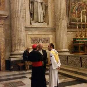 Templari Cattolici d'Italia con il primate delle Gallie presso la Basilica Papale di San Paolo fuori le mura