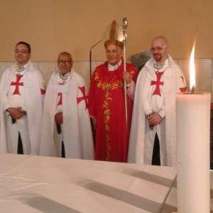 Templari Cattolici d'Italia alla Santa Messa a Santa Rita e Sant'Andrea con S.E. Mons. Giampaolo Crepaldi vescovo di Trieste